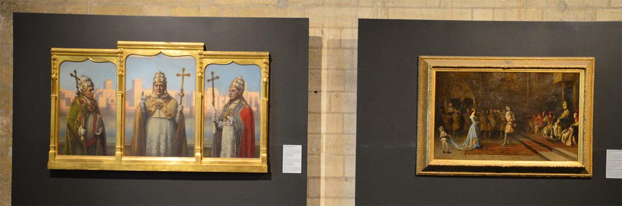 역대교황 기록화. 클레멘스 6세 등 아비뇽 교황청에 있던 교황들의 역사가 담겨있다.