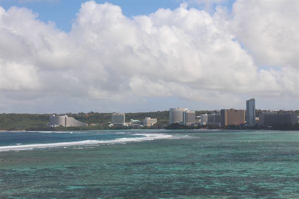 괌 투몬비치 해변 모습
