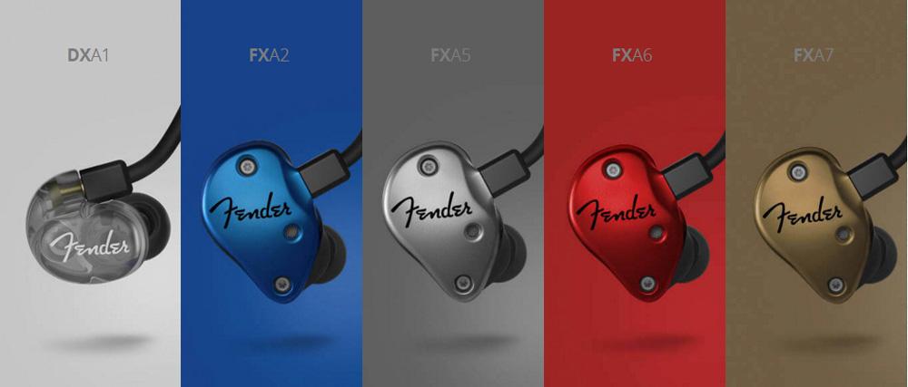 일렉트릭 기타 및 앰프로 유명한 펜더의 인이어 제품들 ( http://intl.fender.com/en-KR/features/in-ear-monitor-series/ )