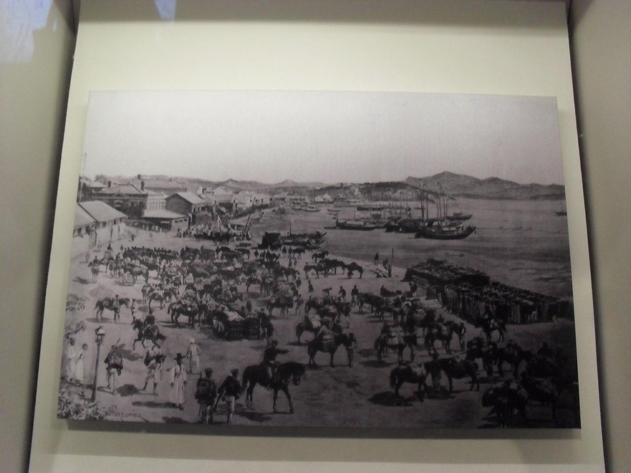 청일전쟁 당시 조선에 상륙하는 일본군. 대한민국역사박물관에서 찍은 사진.