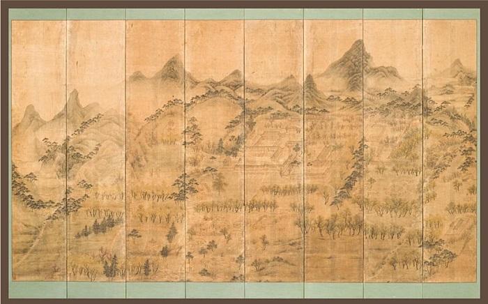 석파정도 병풍 조선말의 화가 이한철이 그린 그림으로, 석파정이 지금보다 훨씬 큰 규모였음을 알 수 있다.