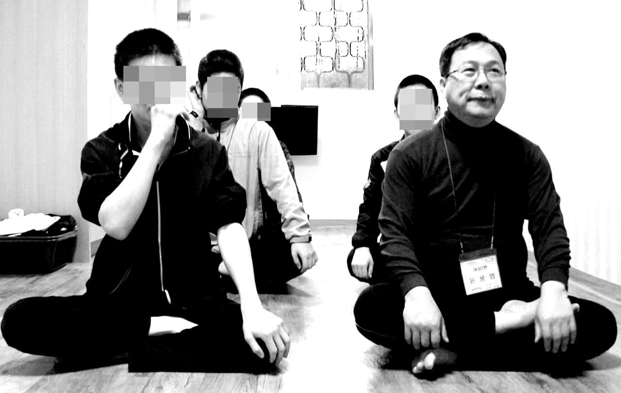 대전소년원에서 소년원생들과 5박6일간 함께 지낸 윤용범 서기관.