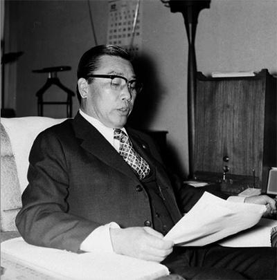 건설부장관 시절의 김재규. 그는 1974년부터 1976년까지, 2년동안 건설부장관을 역임했다.