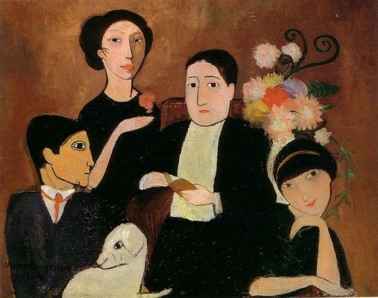 아폴리네르와 그의 친구들(마리로랑생,1908, 볼티모어 미술관)
