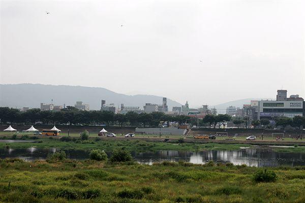 공공 와이파이가 설치된 2018 화랑대기 전국유소년축구대회가 열리는 경기장 주변 모습