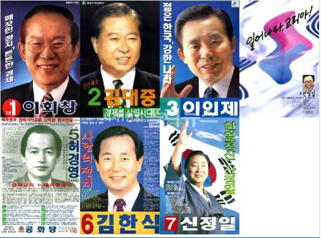 1997년 대선 포스터