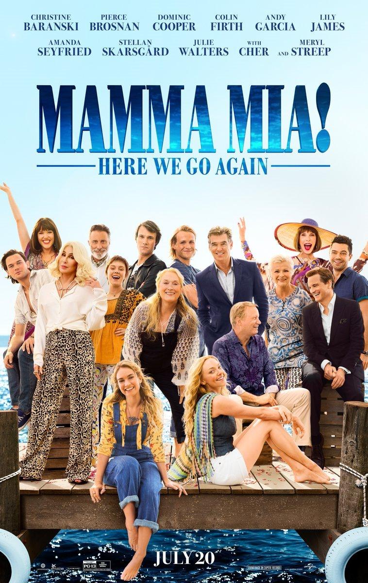 영화 <맘마미아! 2>의 작품 포스터