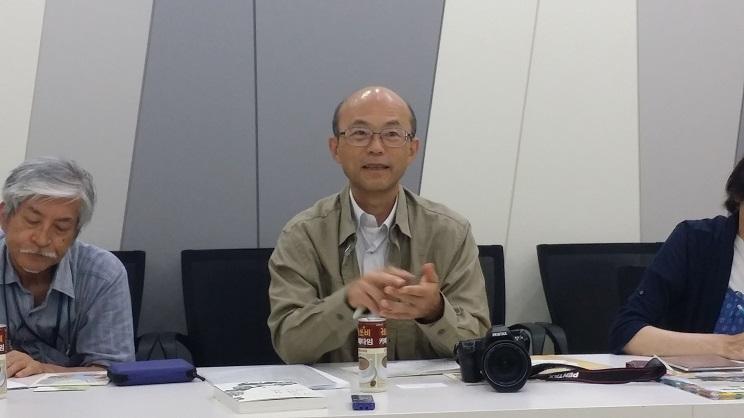 하스마 아키라씨 가나가와현 지역에서 '자연에너지네트워트' 대표를 맡고 있는 퇴직교사