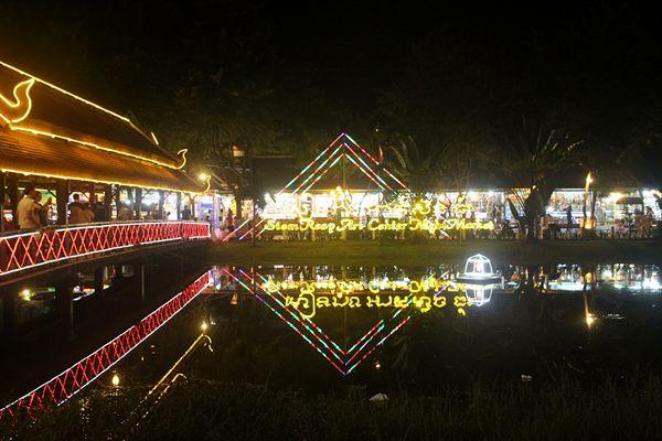 캄보디아 씨엠렛 펌 스트리트 나이트마켓 모습