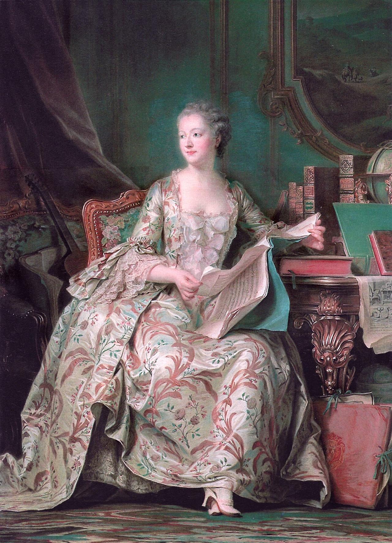 캉탱 드 라 투르가 그린 초상화 <퐁파두르 후작부인>, 1755년 완성