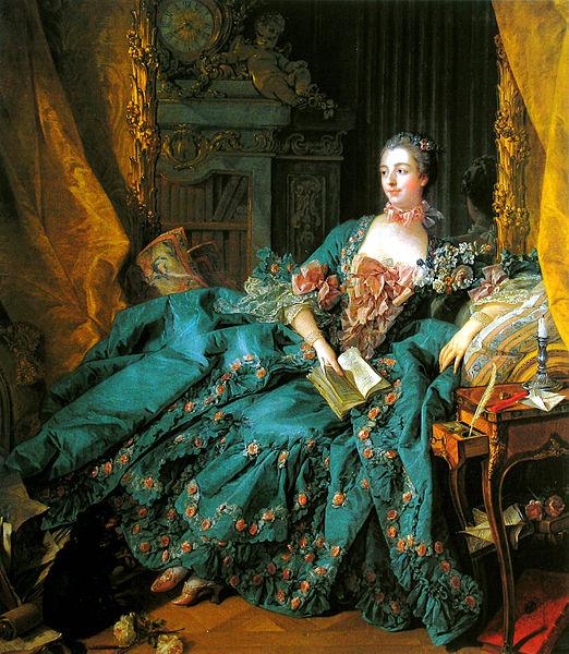 프랑수아 부셰가 그린 초상화 <퐁파두르 후작부인>, 1756년작.