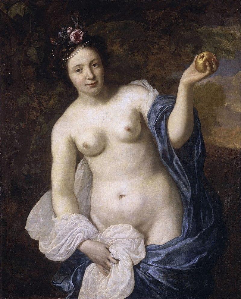 반데르 헬스트의 <파리스의 사과를 들고 있는 비너스>, 1664년작