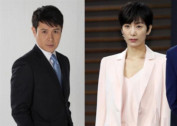 배우 이민우와 김서형
