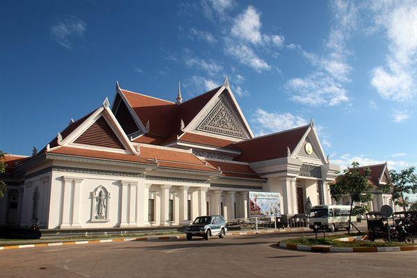 캄보디아 씨엠렛 매표소옆 김일성박물관 모습