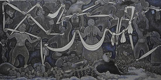 제주4.3고 130x582cm, 2014, 캔버스에아크릴릭