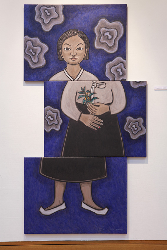 봉선화2-가을 196x91, 2014, 캔버스에 아크릴릭