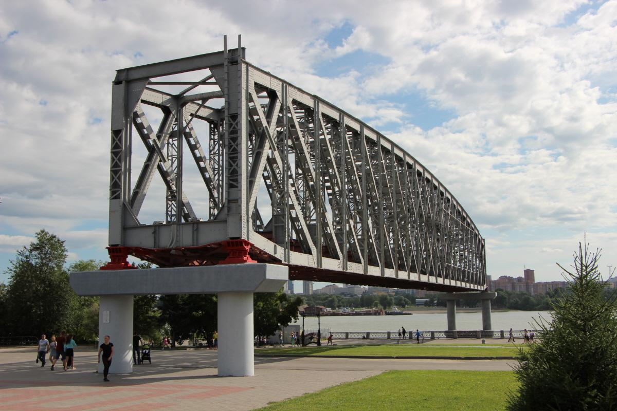 1898년 완성된 오비강 철교