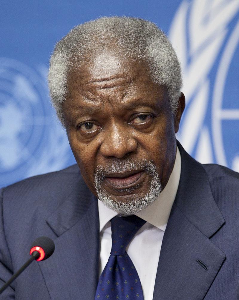 코피 아난 전 유엔 사무총장.