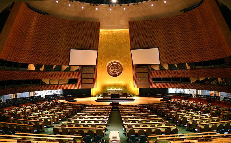 유엔 총회장.