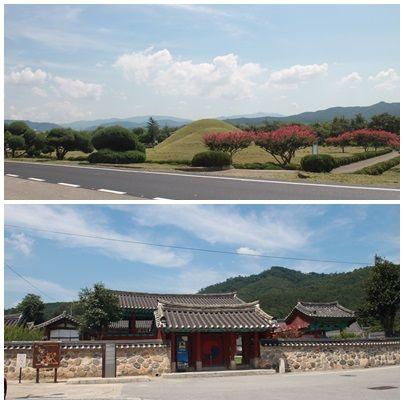 위쪽부터 경주 김인문 묘, 경주 서악서원