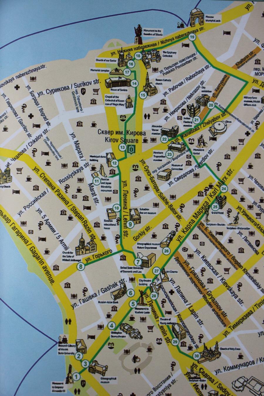 그린라인 투어 지도