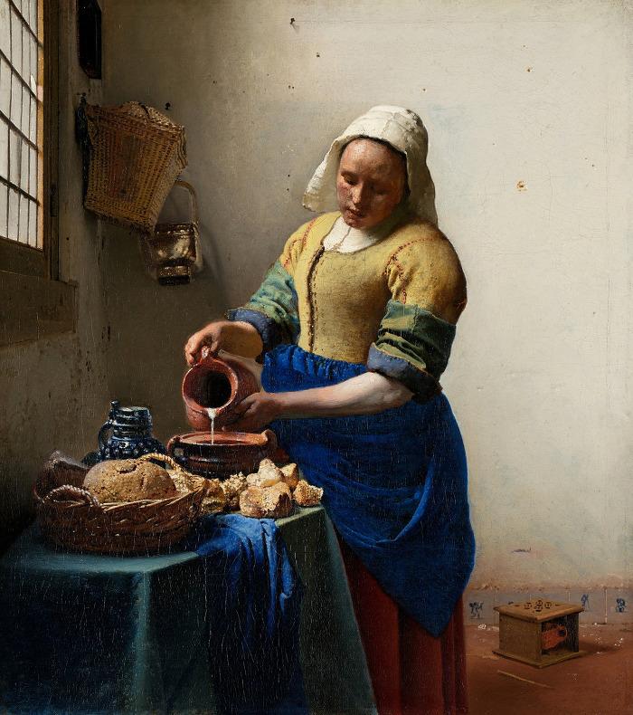 우유를 따르는 여인(페르메이르,1658-1660년경)