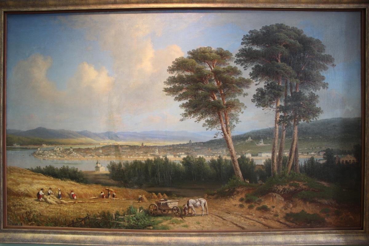 앙가라강 너머 이르쿠츠크를 그린 풍경화