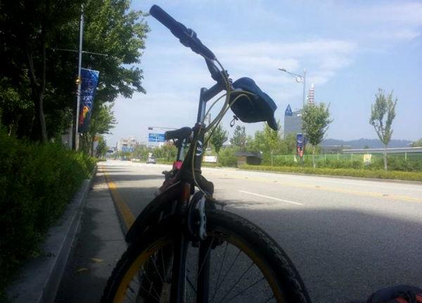 생활자전거로 시작한 5년 이 자전거로 남도여행 600여km를 달렸다.