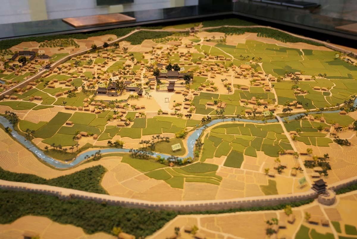 옛 나주읍성의 모형. 나주목문화관에 전시돼 있다.