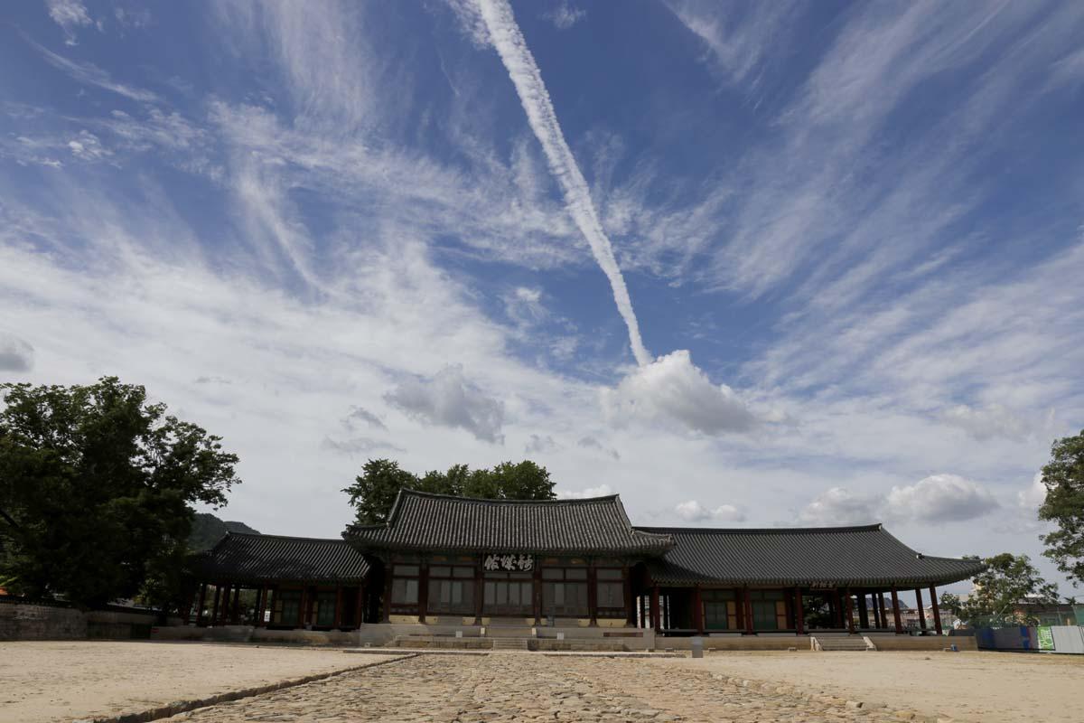 옛 나주읍성의 금성관 전경. 지난 8월 22일 오후 풍경이다.