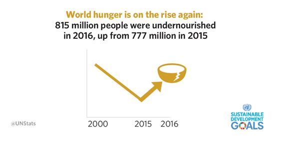 반등하는 세계 기아(World Hunger) 수치
