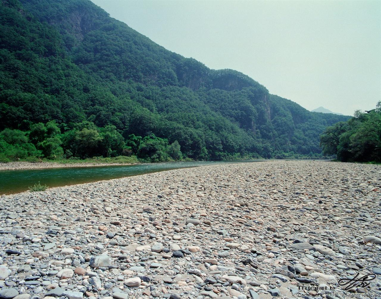 돌과 강 (6*7중형/Pro400H)시원한 소리를 내며 흐르고 있는 동강