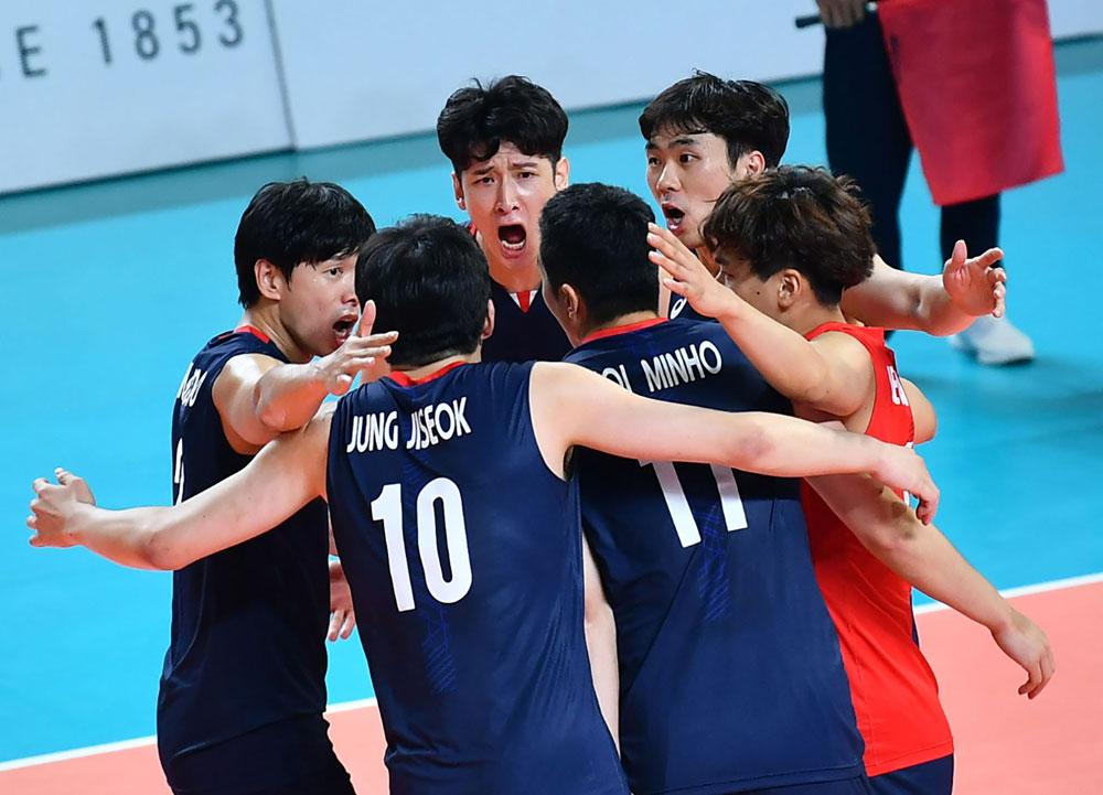 남자배구 AG 대표팀 경기 모습... 한국-파키스탄 (2018.8.26)