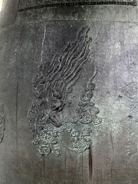 국립경주박물관에 있는 성덕대왕 신종 비천상 모습