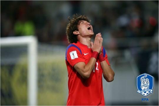 2018 아시안게임 남자축구 대표팀에서 최고의 활약을 보이고 있는 공격수 황의조