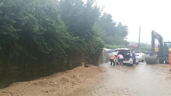 지난 28일 철원 폭우 피해 상황