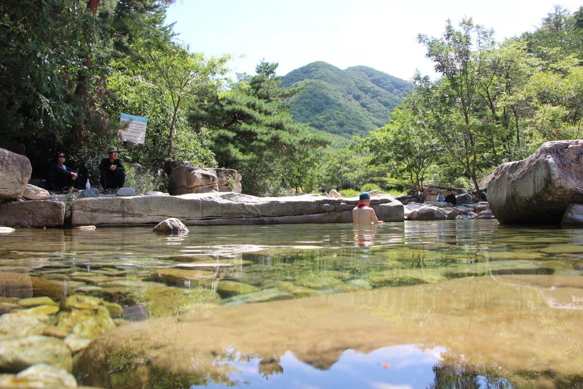 갈은구곡의 맑은 물
