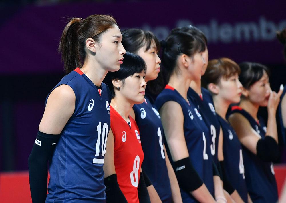 한국 여자배구 2018 AG 대표팀 선수들