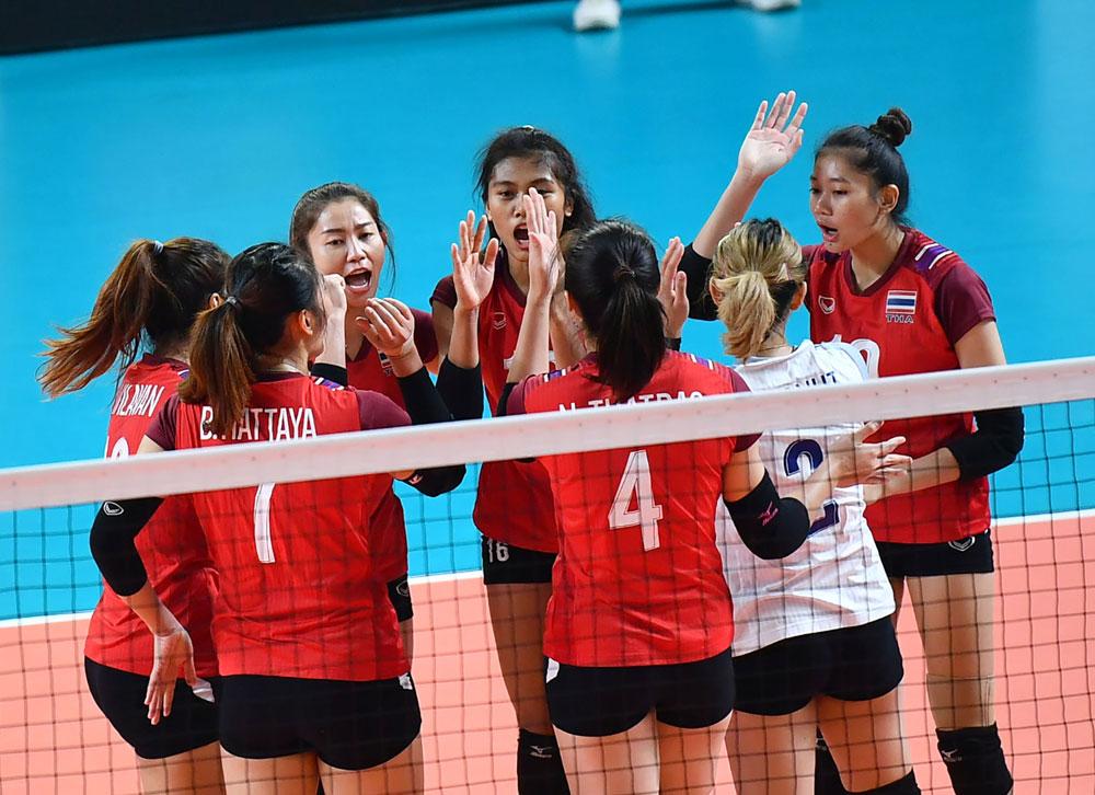 태국 여자배구 대표팀, 2018 AG 경기 모습