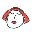 할머니의 소녀시절 이미지를 담은 뱃지 일러스트 할머님이 직접 그리셨다.
