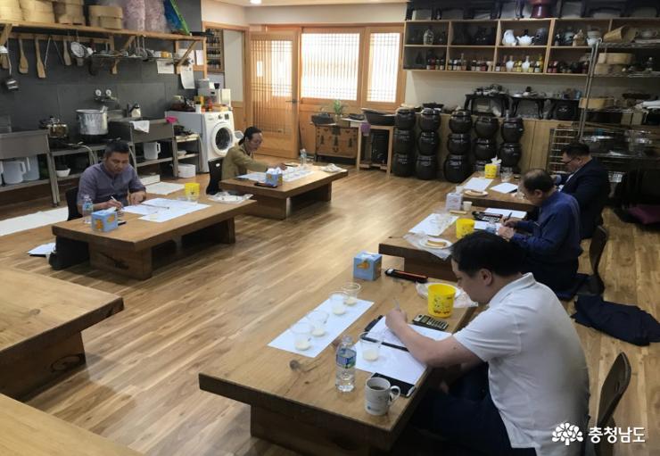 충남술 TOP 10 선정 1차 심사 모습