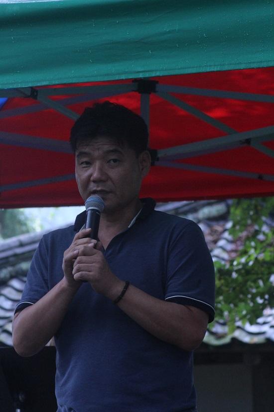 '디카시와 미디어'라는 테마로 강연하는 김기준 뉴스1 기자 겸 시인