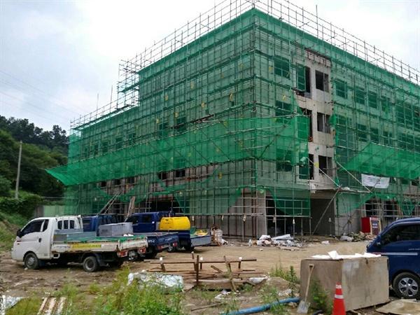 성남 창성중학교 교사 신축 및 기존 교사 환경개선 공사 현장