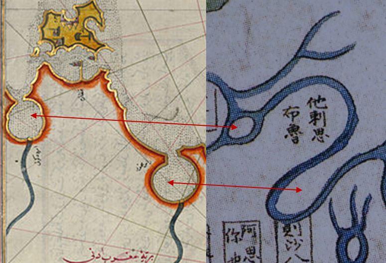 트리폴리 강리도와 피리 레이스 지도