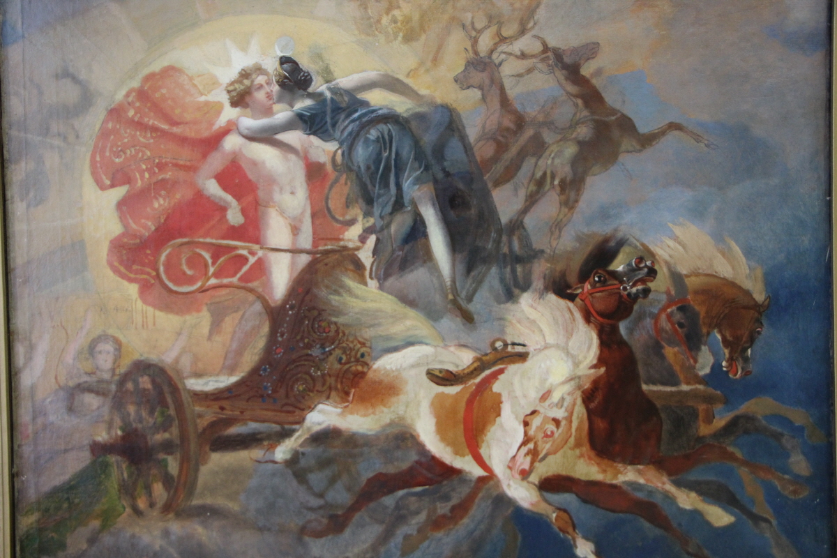 브륄로프의 '디아나와 아폴로의 이별'