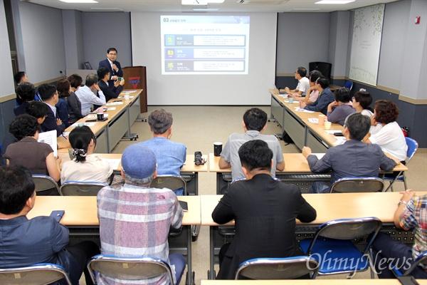 허성무 경남 창원시장은 9월 4일 오전 마산YMCA 강당에서 '아침논단'에 참여해 강연했다.