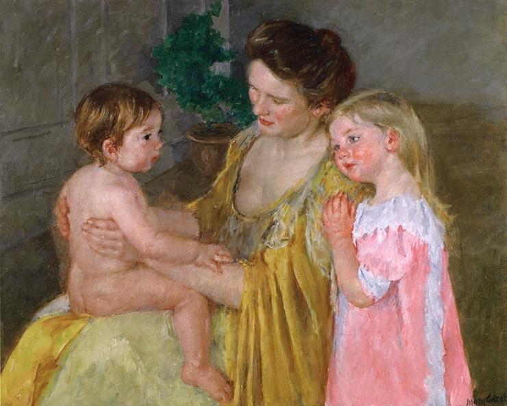 엄마와 두 아이들(메리 커셋,1906,개인소장)