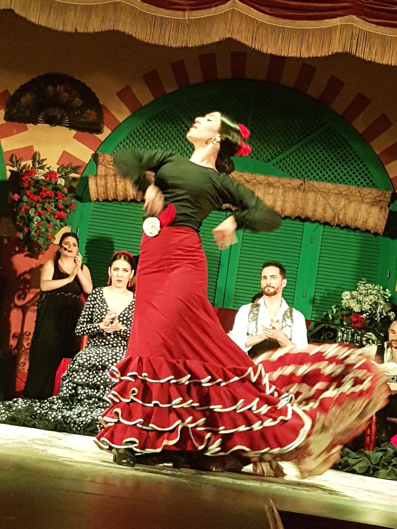 여성 무용수는 요정이 춤을 추는 듯한 현란한 몸짓으로 관객들의 마음을 사로잡습니다.