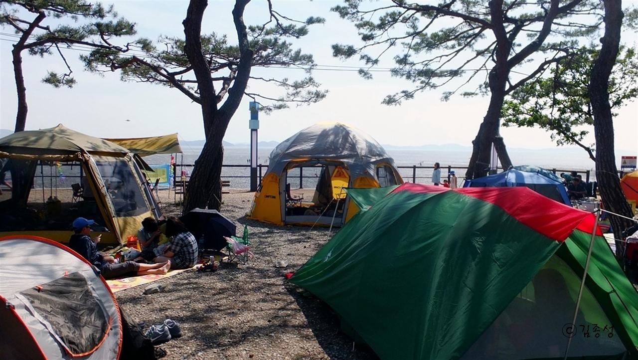 동막해수욕장 캠핑장.