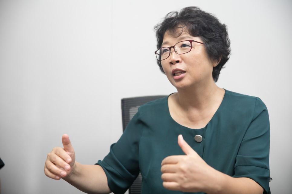 황은미 한국 고령 친화 식품 연구소 소장.